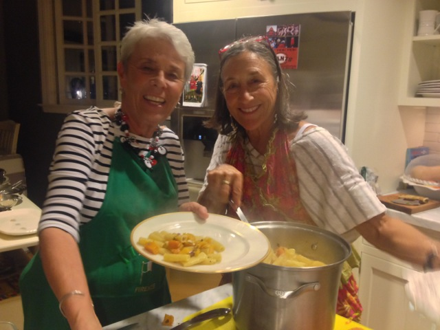 Nancy and Arlene, cooking duo