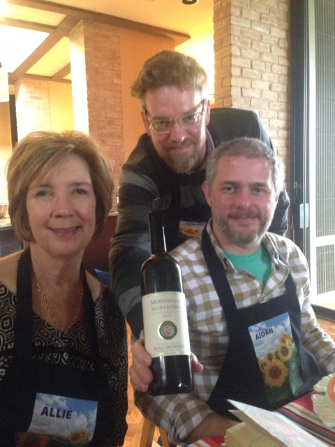 Allie, Jessie and Aidan share Montefalco sagrantino