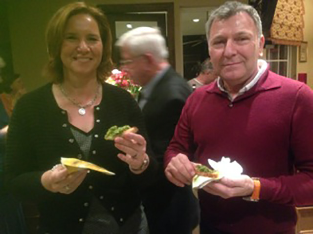 Keith and Angela, from Scotland, share Italian flavors