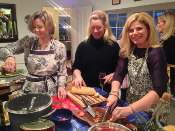 Anne, Heather and Lisa, cooking trio