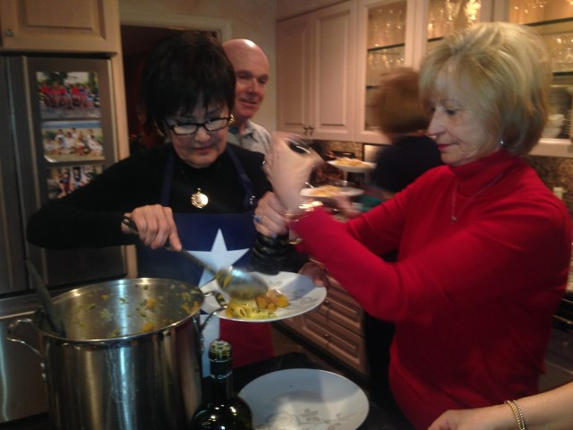 Betty and Diane on pasta service