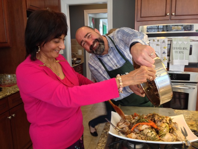 Brent and Maggie enjoy good times cooking