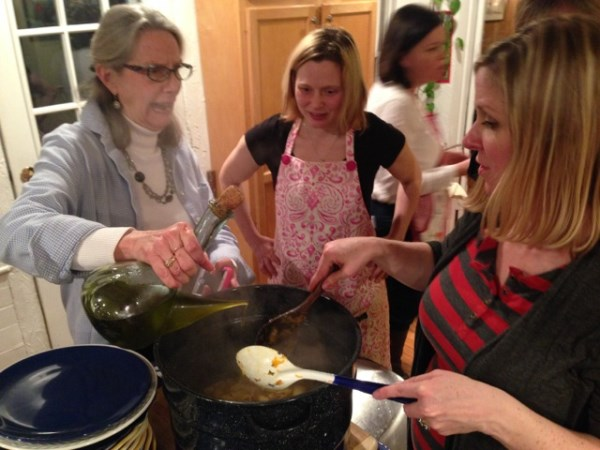 Carol, Jenn and Holly team to cook