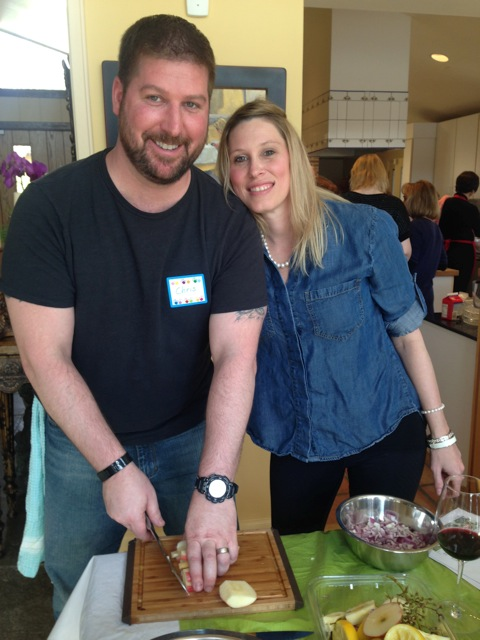 Chris and Kristi, united to cook