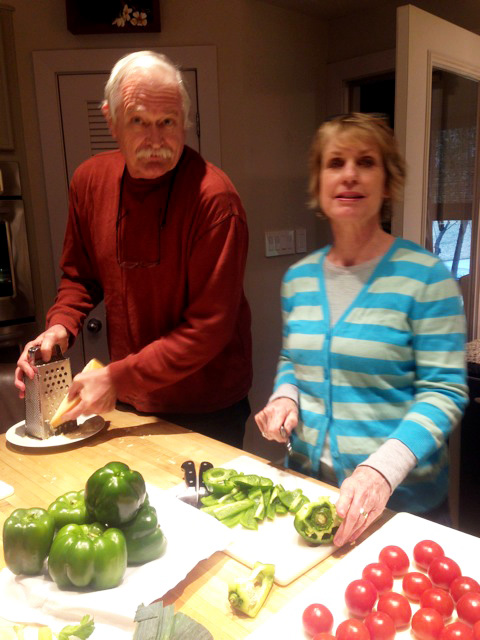 Chris and Meg on the peppers