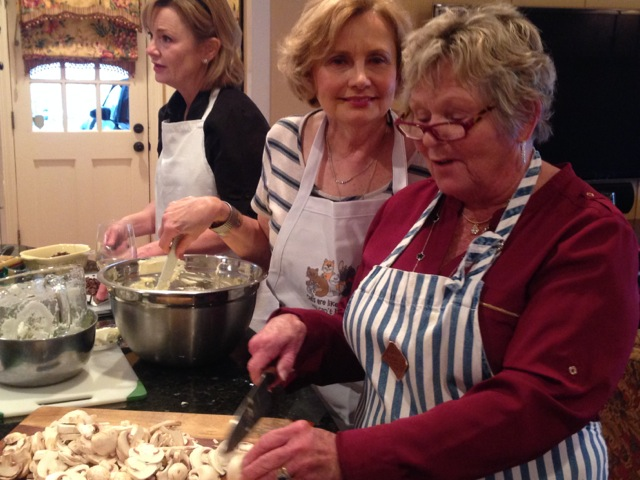 Sissy, Janet and Cynthia team on the cooking