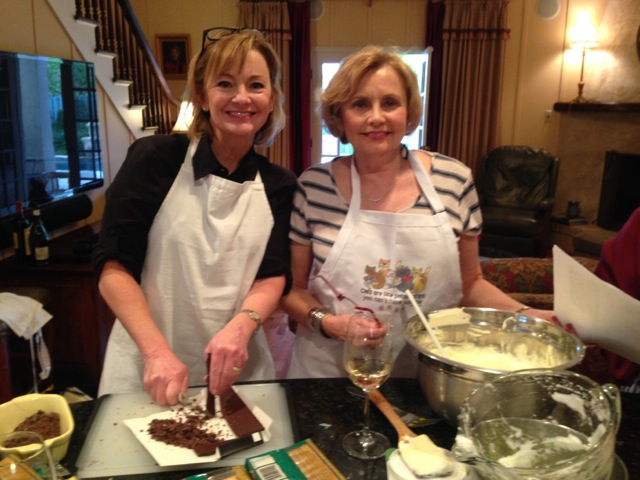 Sissy and Janet on the tiramisu