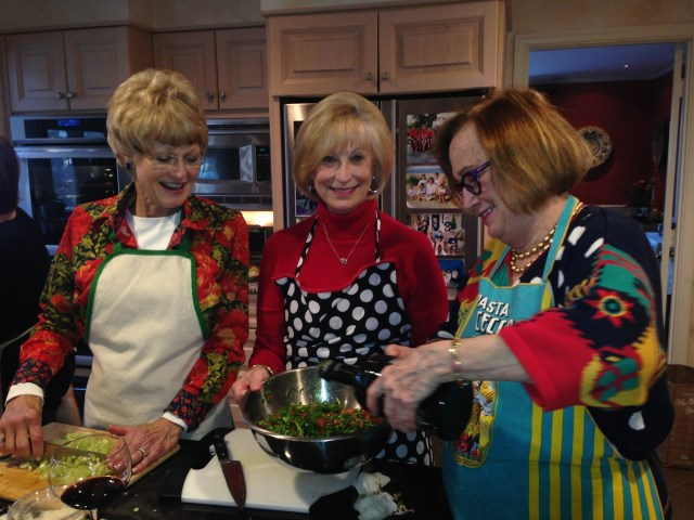Debbie, Betty and Paula, cooking trio