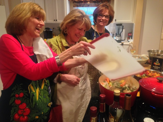 Good times in the kitchen for Debbie, Sheila and Pam