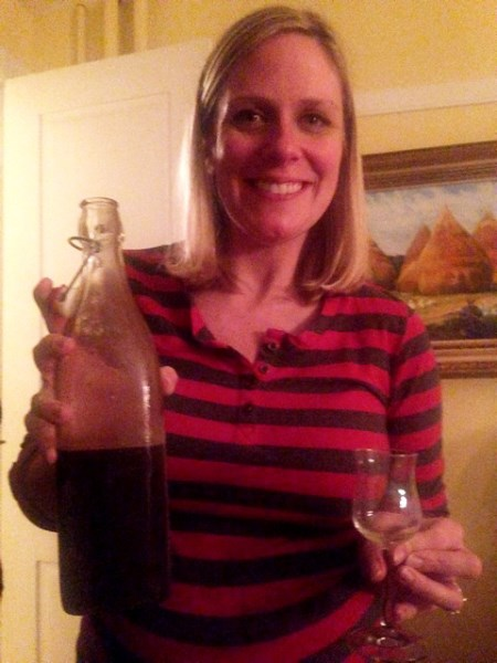 Holly with chocolate mulberry liqeuer she makes
