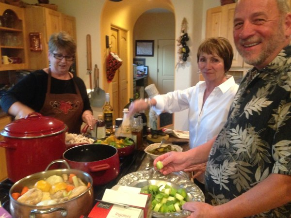 Carol, Christy and Watson, cooking trio