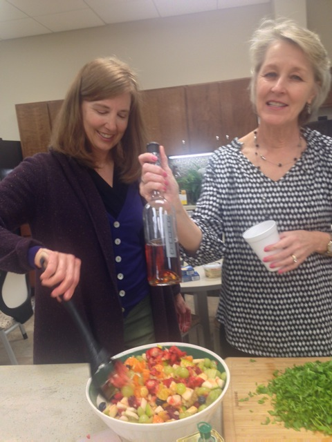 Melinda and Gina enjoy good times in the kitchen