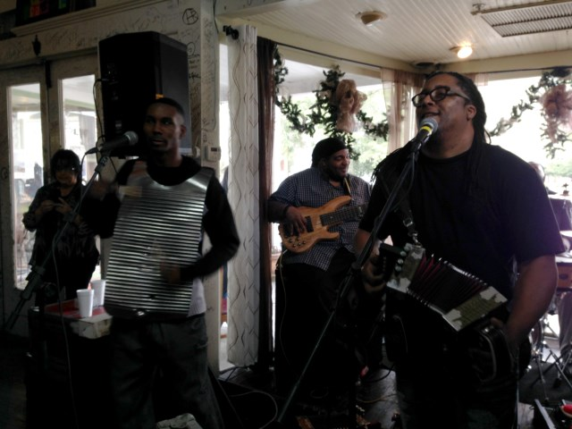 Zydeco brunch at the Cafe des Amis, Breaux Bridge, LA