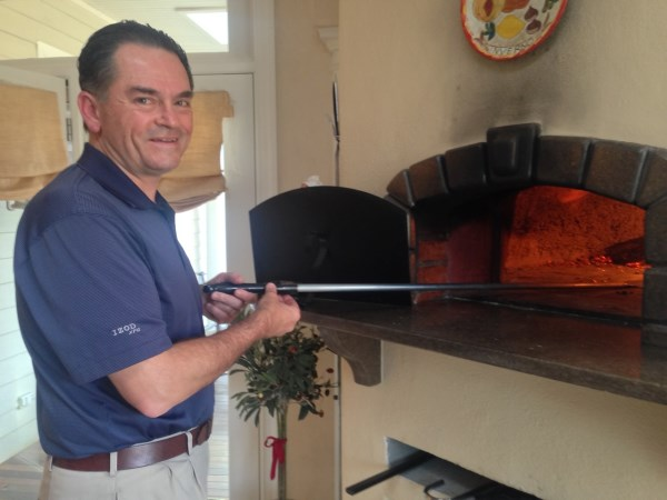 Frank at his pizza oven