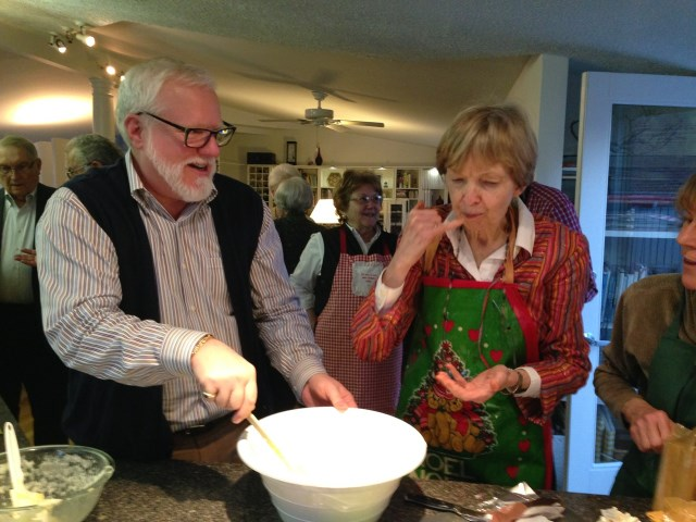 David and Jean team to cook
