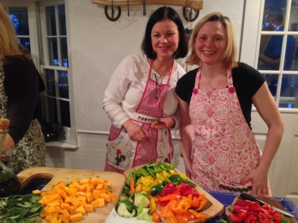 Lynette teams with Jenn on the cooking