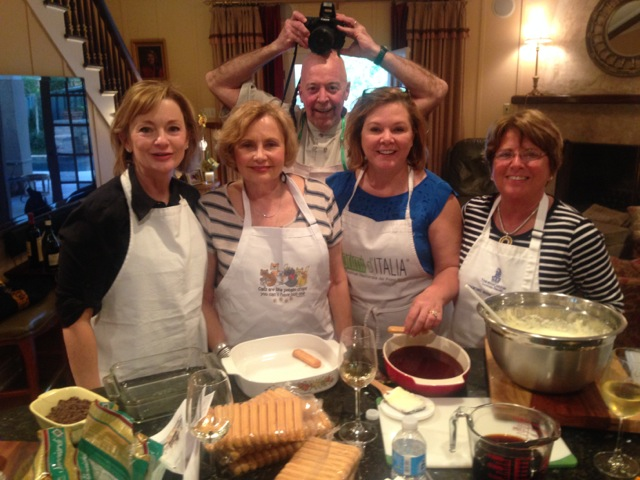 Michelle with her cooking friends,  Sissy, Janet and Penny