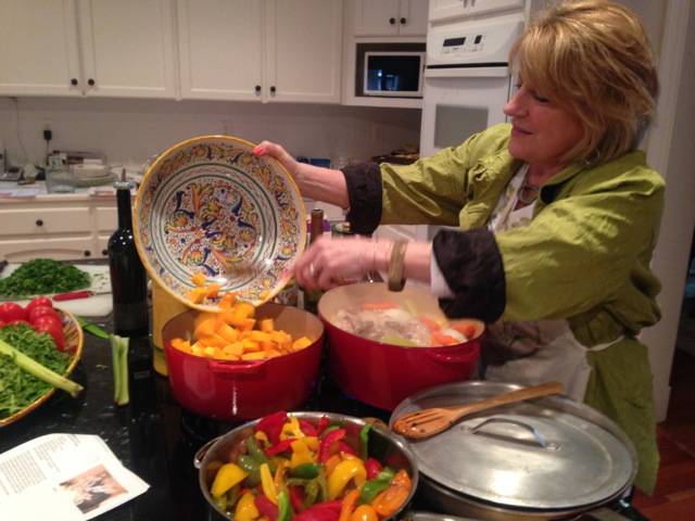 "Sheila on our pasta with butternut squash - and we'll add ""cajun flare"""