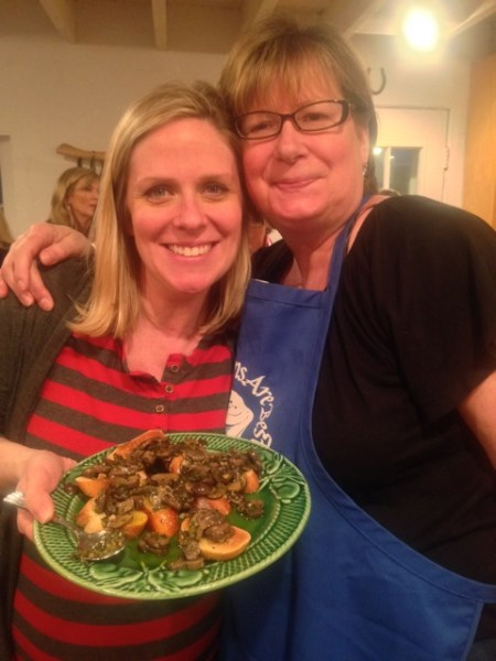 Linda and friend Holly united to cook