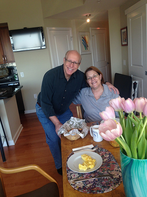 …and the day after, breakfast with my warm hosts, Steve and Kathy