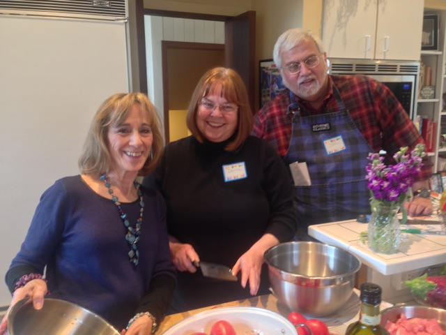 Paulette, Donna and John, cooking trio