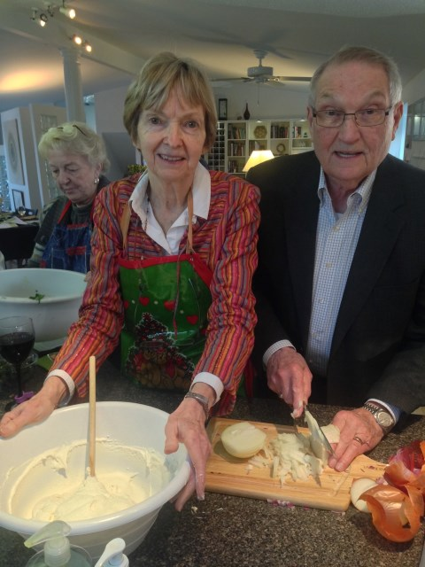 Jean and husband Pat team to cook