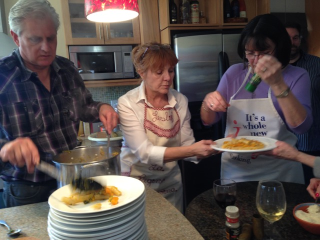 Ted, Leslie and Carolyn serve up the goodness
