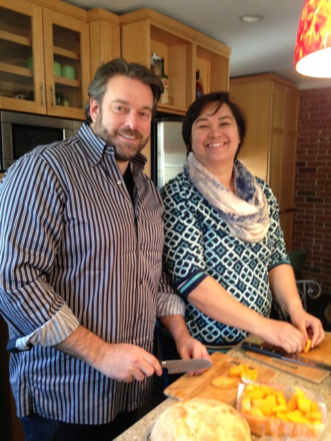 Steve and Jenny, cooking duo