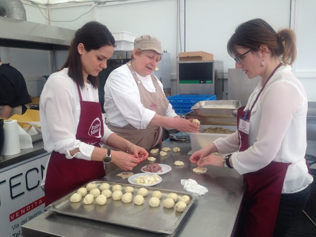 Bomboloni in-the-making