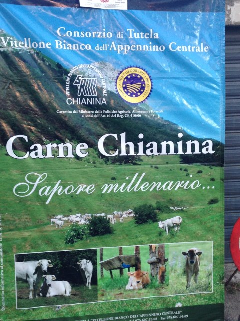 Steak of the famed Chianina beef on the menu, too