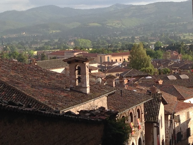 Gubbio's medieval hilltown splendor backdrops the Ceri races