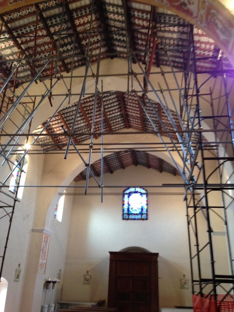The church - under restoration