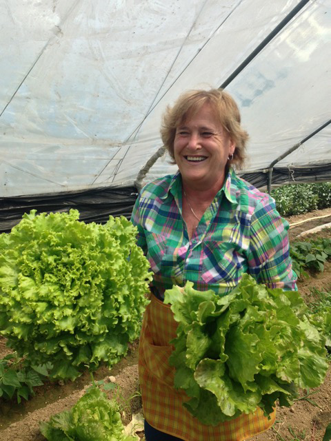 """Take home some of our salad,"" Giuseppa smiles"