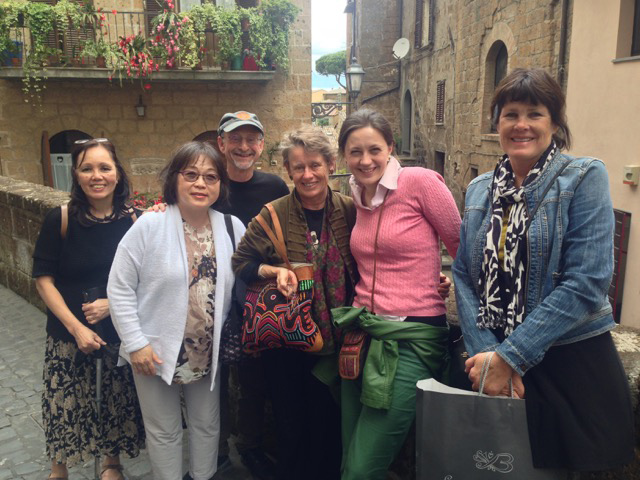 Connecting with our daughter-in-law Francesca in Orvieto