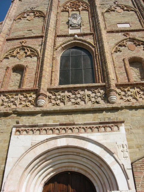 Germanic Gothic facade of the Collegiata