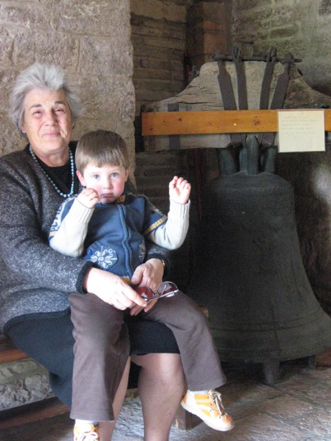 Davide and his nonna Norma