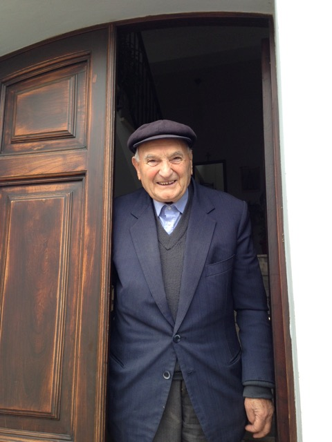 Signor Biagio welcomes us into his home