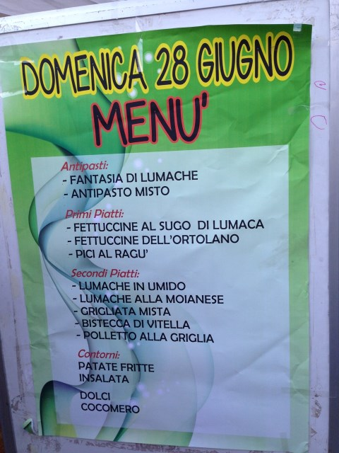 Snails star on the menu of this sagra