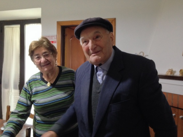 Signora Maria Pio and Signor Biagio open their home to us