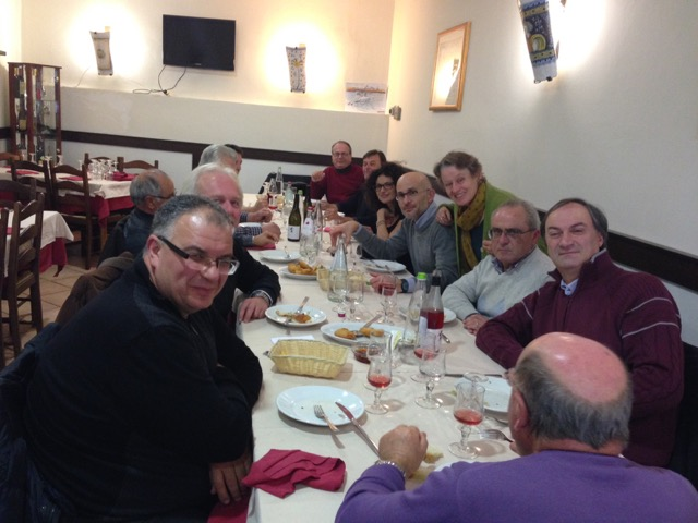 Memorable codfish feast near a group all the way from Rome