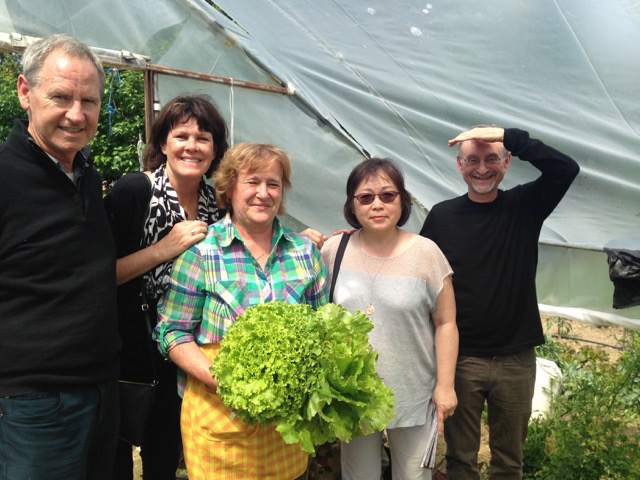 Marc, Therese join in a visit to Giuseppa's farm, near Deruta