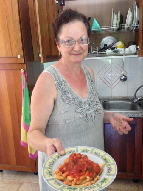 Maria serves up her pasta goodness