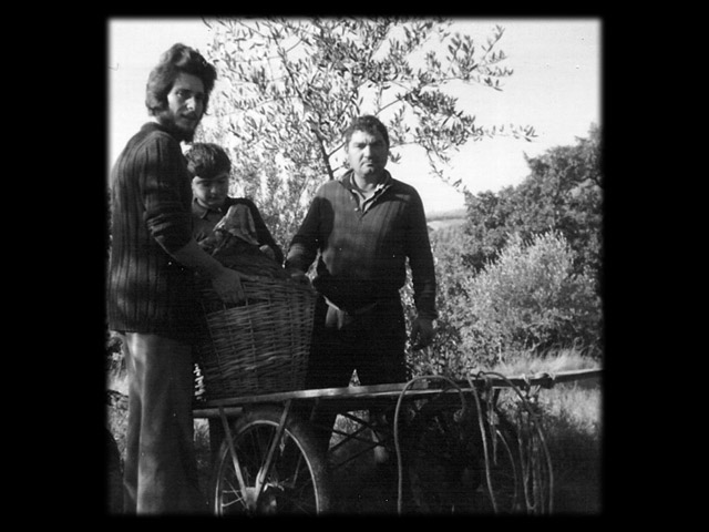 Peppe and son, Ivelio, deliver our first wine! (1975)