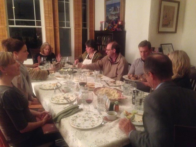 Feasting together with Donna and Steve
