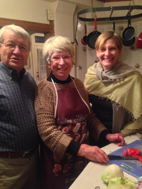 Lynn and Charles unite with Alison to cook