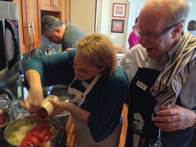 Kathy and Steve pair to cook