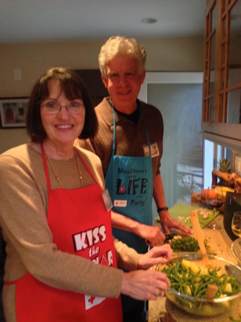 Carolyn and Mark team up on our Sicilian beans/potatoes dish