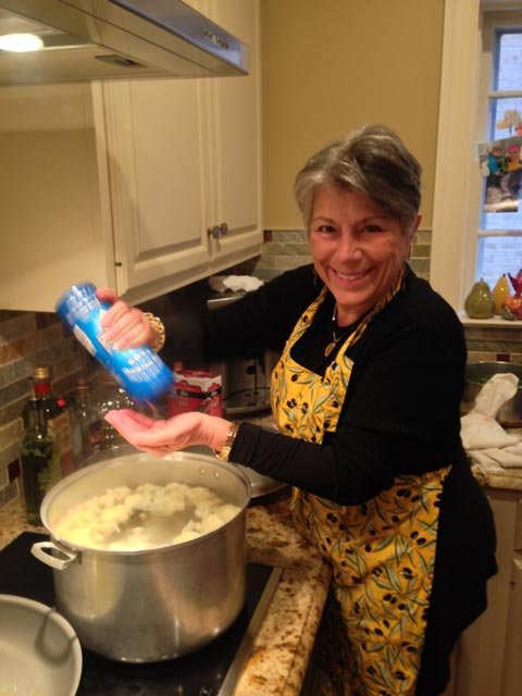 Anna cooks up the cauliflower for our pasta sauce