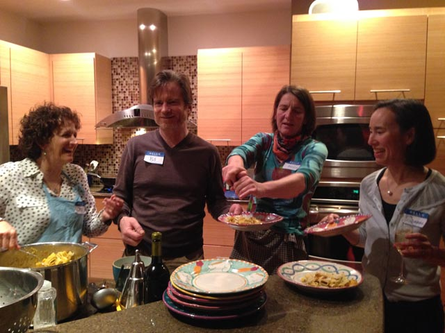 Lisa C., Bill, Karoline and our host, Suzanne on the pasta service