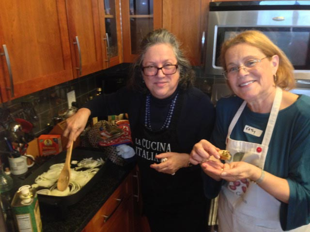 Kathy with her guest, Marilyn: cooking duo